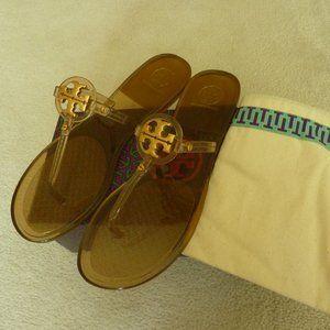Tory Burch 'Miller' Jelly Logo-T Sandals - Sz. 9